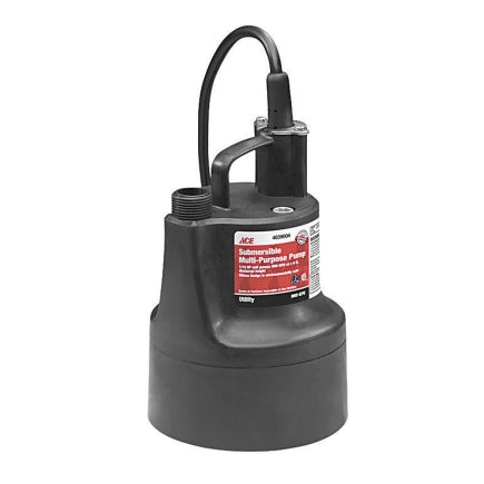 Ace Wayne Thermoplastic Submersible Pump 1/10 hp 660 120 volts