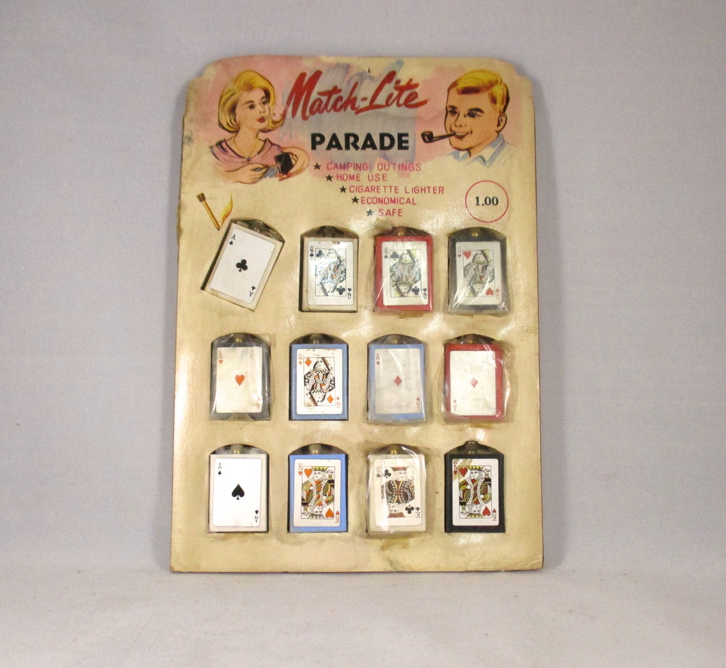 Vintage store display Match-Lite Parade lighter circa 1950-1960
