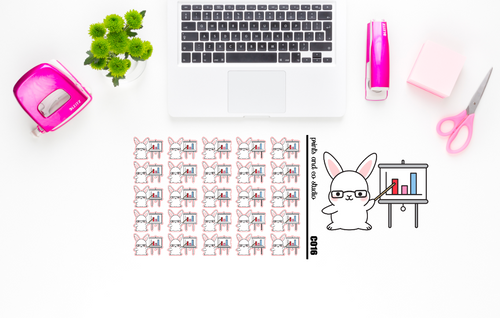 Carrots in a meeting planner stickers (C016)