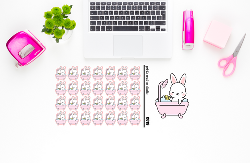 Carrots takes a bath planner stickers (C019)