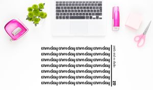 arm day script planner stickers (S277)