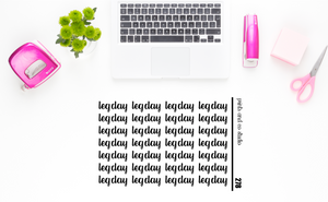 leg day script planner stickers (S278)