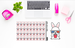 Carrots watches a movie planner stickers (C029)