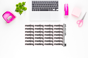 meeting script planner stickers (S301)
