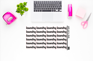 laundry script planner stickers (S305)