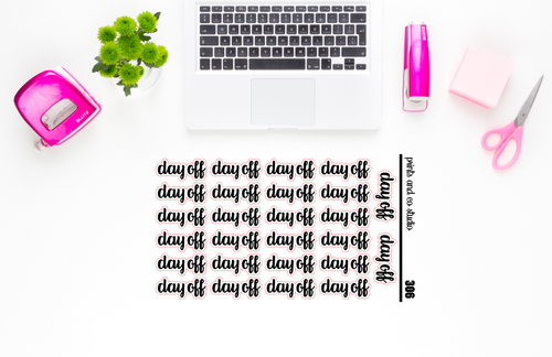 day off script planner stickers (S306)