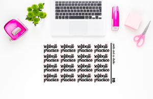 softball practice script planner stickers (S315)
