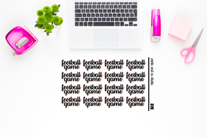 football game script planner stickers (S319)