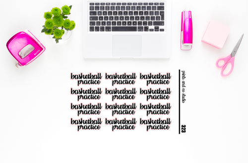 basketball practice script planner stickers (S323)