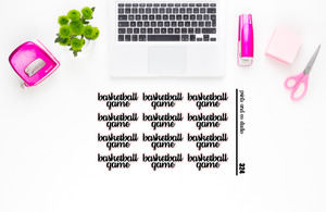basketball game script planner stickers (S324)
