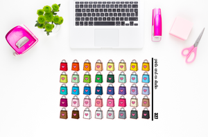 shopping bag planner stickers (S327)