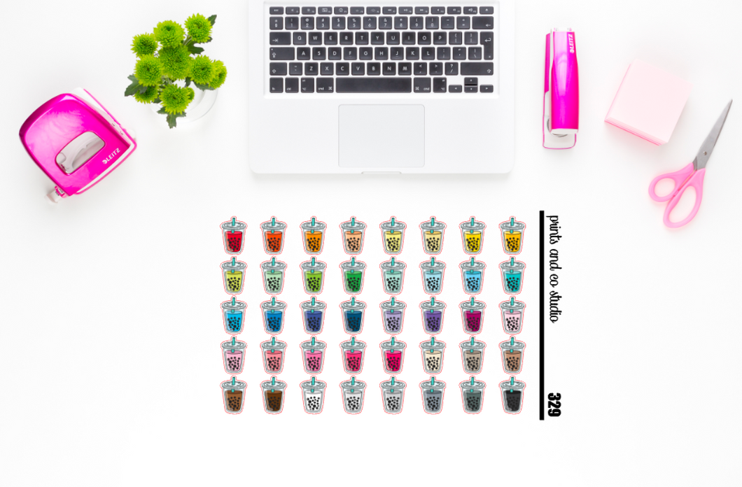 boba tea planner stickers (S329)