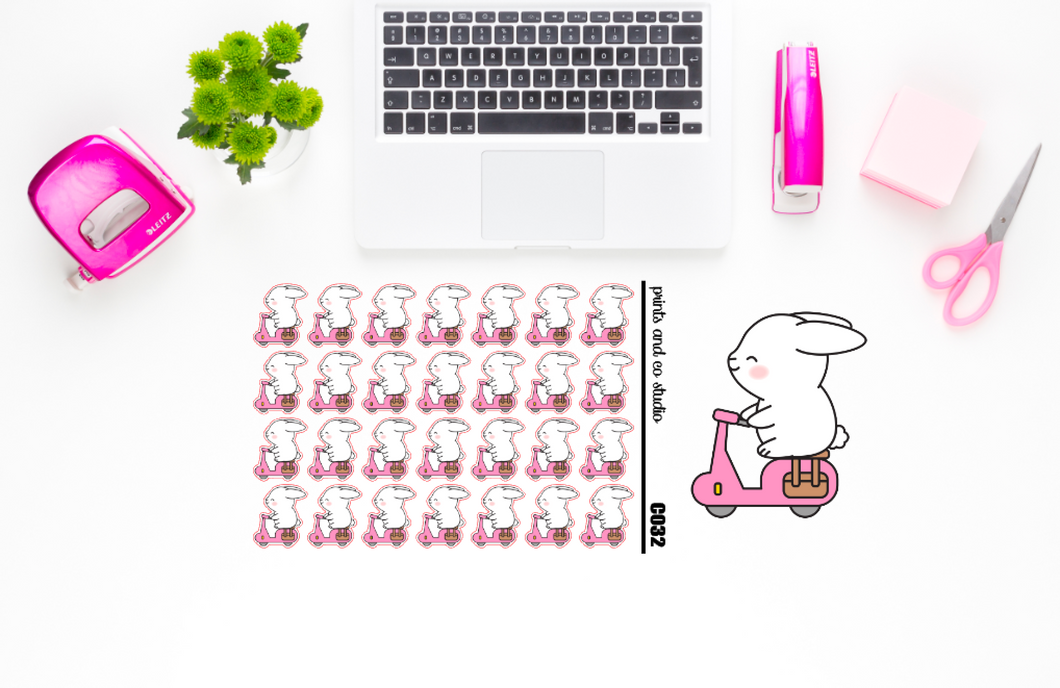 Carrots rides planner stickers (C032)