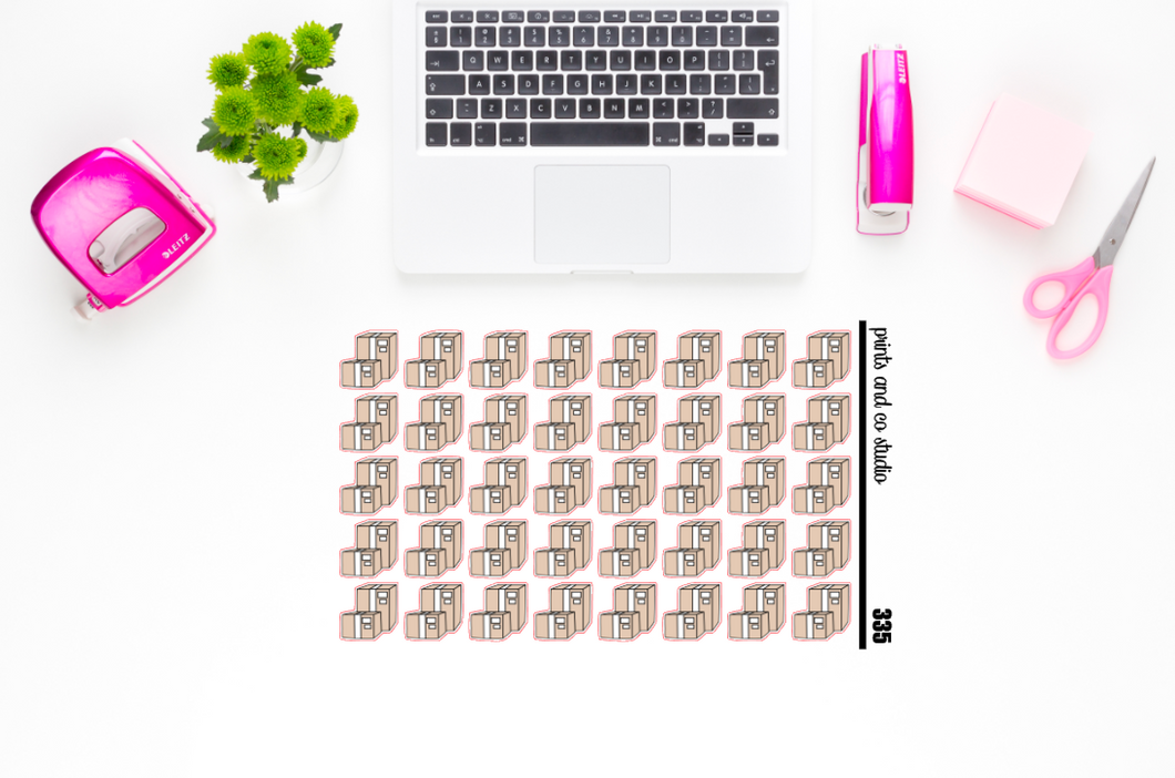 mailing boxes planner stickers (S335)