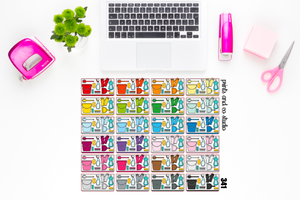 cleaning flat lay planner stickers (S341)