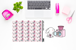 Carrots does laundry planner stickers (C022)