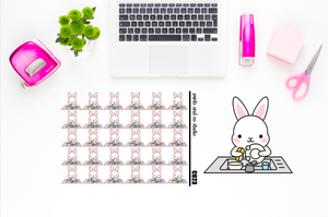 Carrots does the dishes planner stickers (C023)