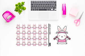 Carrots works out planner stickers (C027)