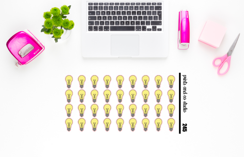 light bulb planner stickers (S245)