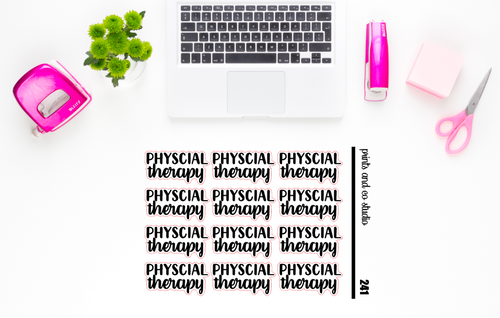 physical therapy script planner stickers (S241)