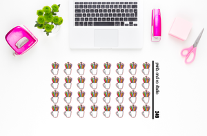 pen/pencil cup planner stickers (S249)