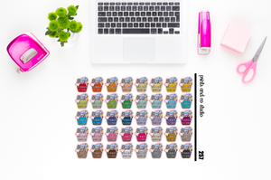 laundry basket planner stickers (S257)