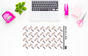 paint roller planner stickers (S253)