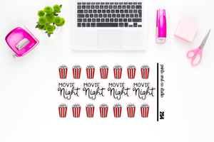 movie night planner stickers (S254)
