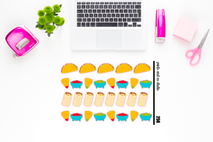 taco tuesday planner stickers (S256)