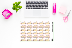 Jeff sleeps planner stickers (J021)