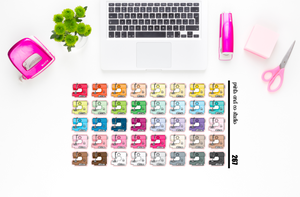 sewing machine planner stickers (S267)