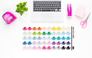 yoga mat planner stickers (S264)