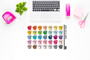 dishwasher planner stickers (S283)