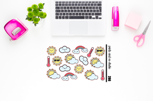 warm weather planner stickers (S286)