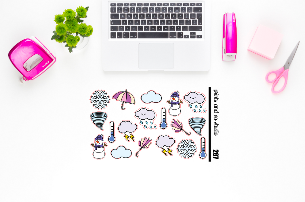 cool weather planner stickers (S287)
