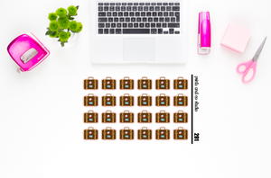 suitcase planner stickers (S291)