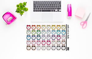 alarm clock planner stickers (S292)
