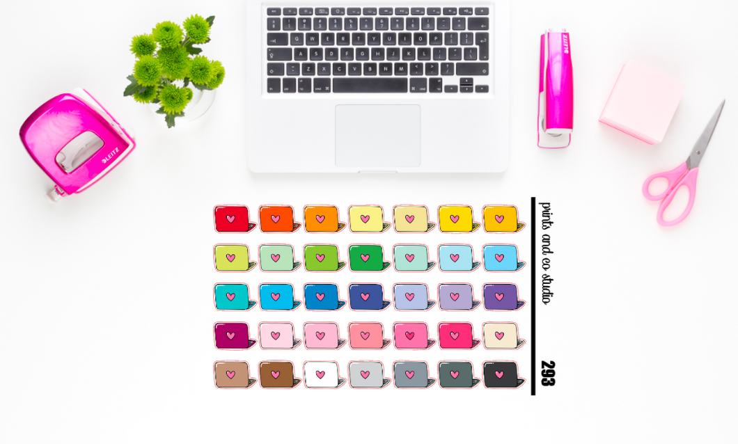 laptop planner stickers (S293)