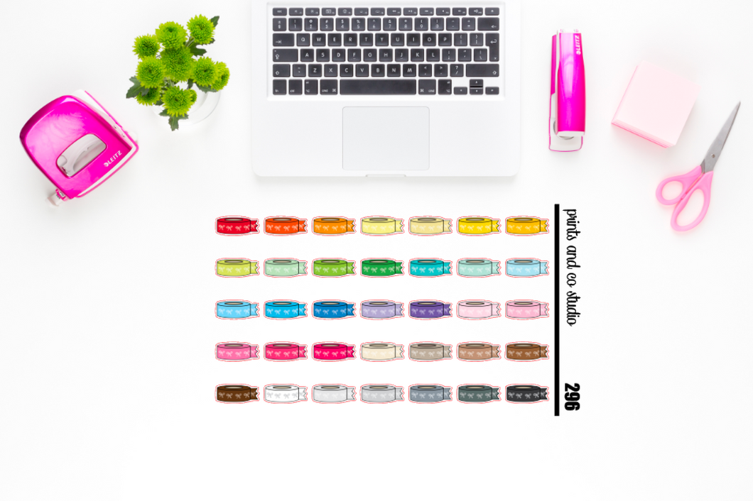 bow washi planner stickers (S296)