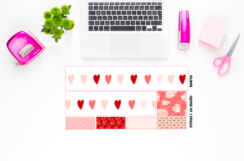hearts bottom washi