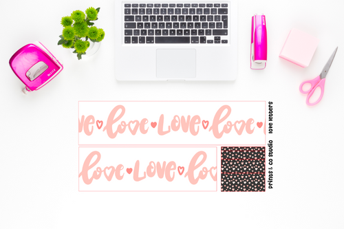 love letters bottom washi