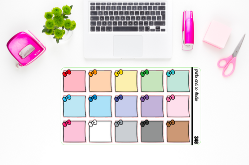 bow post it note planner stickers (S346)