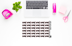 read script planner stickers (S351)