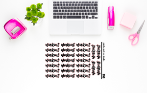 workout script planner stickers (S353)