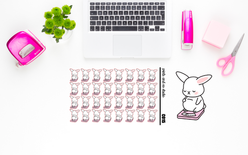 Carrots sad scale planner stickers (C015)
