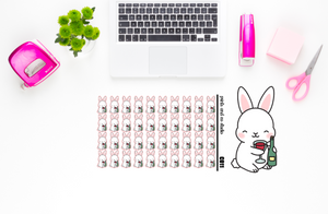 Carrots drinks wine planner stickers (C011)