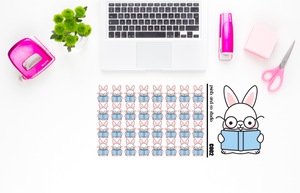 Carrots reads planner stickers (C002)
