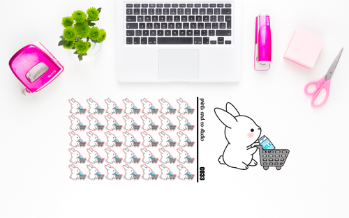 Carrots grocery shops planner stickers (C033)