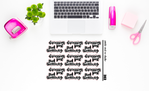 discussion replies script planner stickers (S363)
