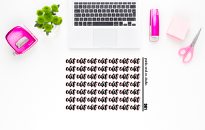 edit script planner stickers (S361)
